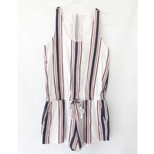 Soft Joie Miri Striped Cotton Romper